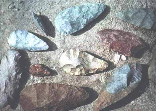 Upper Acheulean Handaxes from Kalambo Falls in Northern Rhodesia.